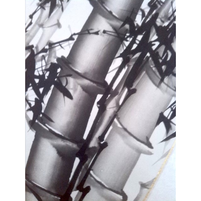 Image of Signed Chinese Ink Painting of Bamboo
