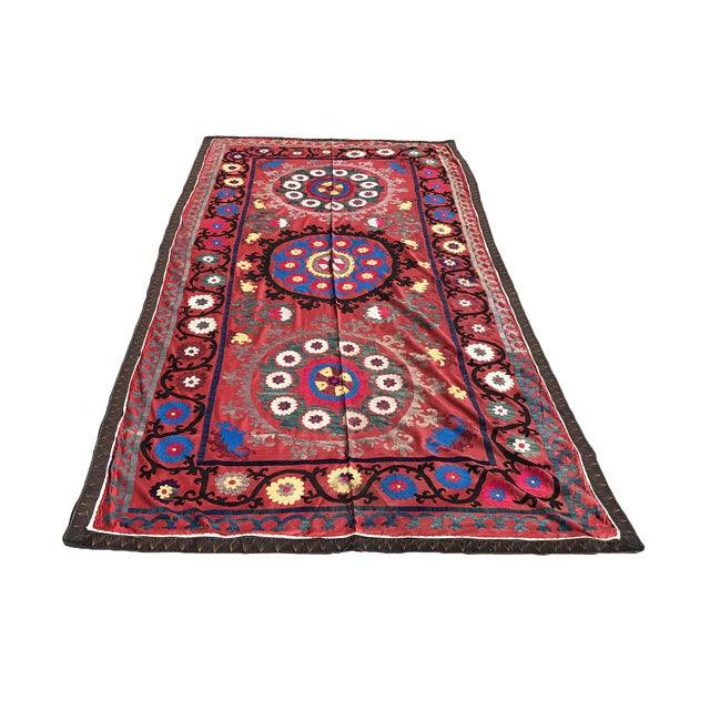 Antique Handmade Suzani Tapestry - Image 1 of 5