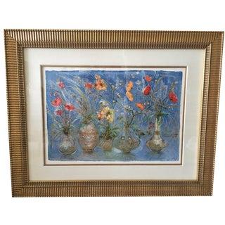 """""""Still Life On Blue""""  by  Edna Hibel"""