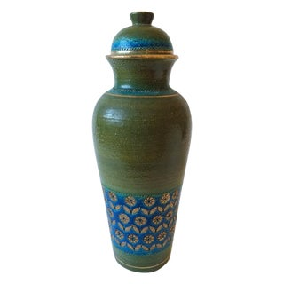 Mid-Century Rosenthal Netter Green and Blue Urn