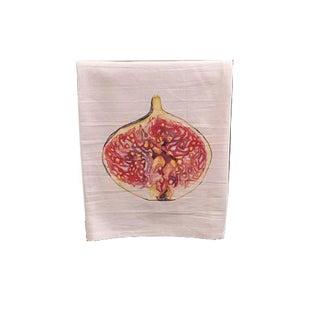 Fig Motif Tea Towel