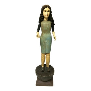 Handcarved Wood Articulated Female Mannequin