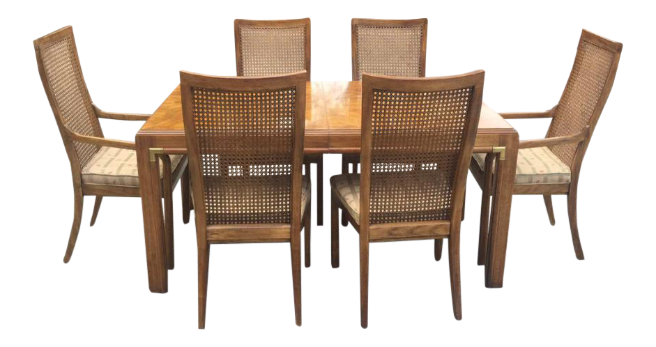 Drexel Accolade Campaign Cane Dining Set
