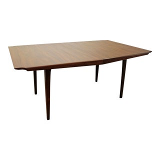 Mid-Century Danish Modern John Stuart Walnut Extension Banquet Conference Dining Table 127""