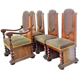 Art Deco Armchair & Side Chairs - Set of 5