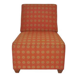 Mid-Century Orange Upholstered Chair