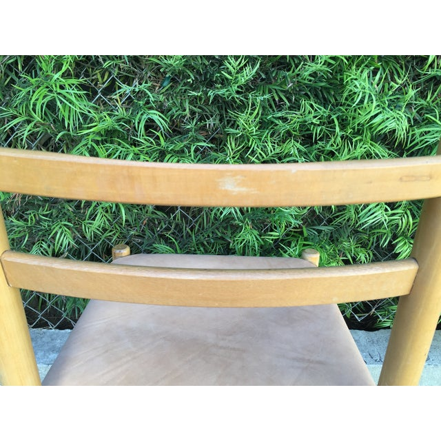 Charlotte Perriand Style Birch & Leather Chair - Image 5 of 9