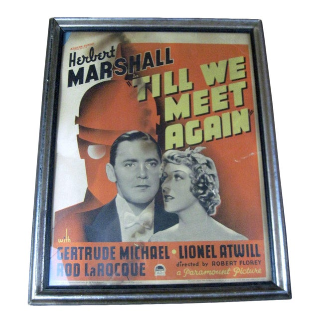 "Vintage Original Movie Poster ""Till We Meet Again"" Circa 1936 - Image 1 of 5"
