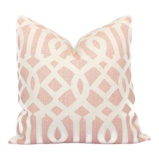 Schumacher Pink Imperial Trellis Decorative Pillow Cover