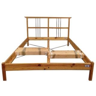 Minimalist Oak & Metal Full Bed