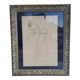 1959 Peter Keil Studio Miro Palma Of Mallorca Drawing.