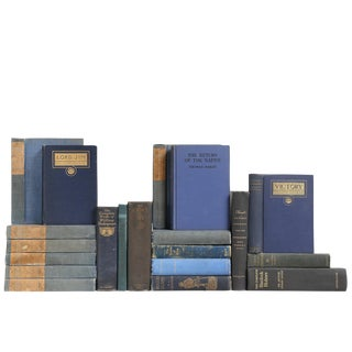 Blue British Classics Books- Set of 20