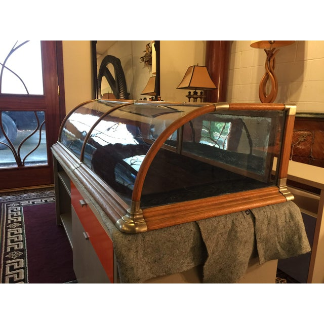 Antique Mercantile Curved Glass Display Case - Image 2 of 7