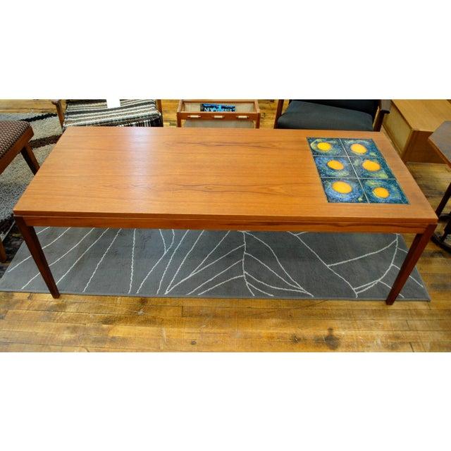 Danish Modern Teak Tile Coffee Table Chairish