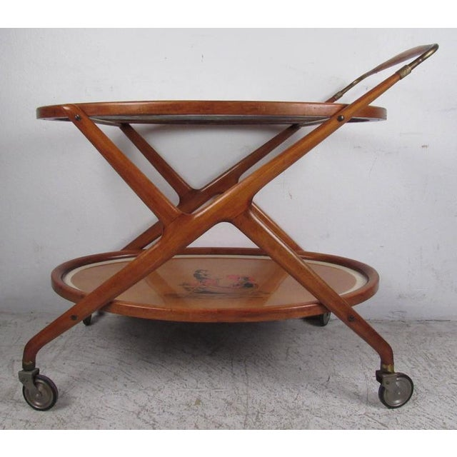 Italian Modern Serving Cart by Cesare Lacca - Image 6 of 9