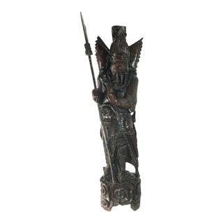 Big Guan Gong Yu Statue, Antique Chinese Art, Asian Home Decor