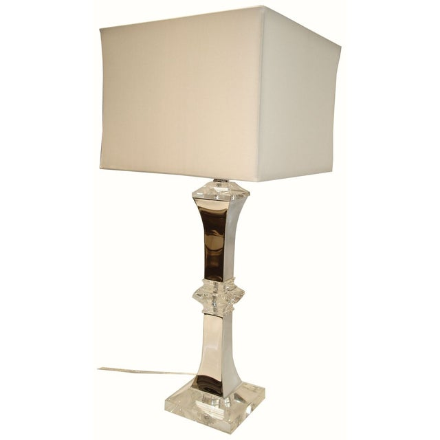 XL Crystal and Chrome Lamp - Image 5 of 5