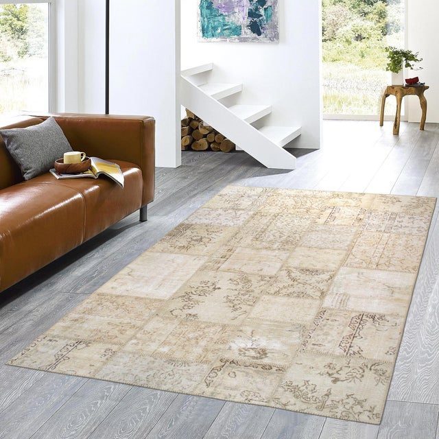 """Pasargad Patchwork Collection Rug- 5' 1"""" X 8' - Image 3 of 3"""