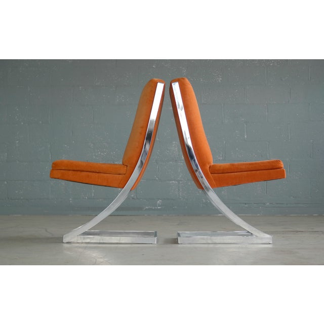Milo Baughman Eight Chrome 'Z-Dining Chairs' for Design Institute of America - Image 6 of 11