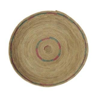 Vintage Round African Basket