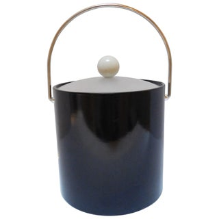 Kraftware Black Patent Ice Bucket