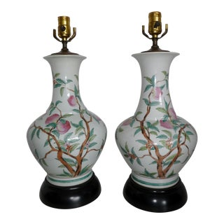 Japanese Porcelain Table Lamps - A Pair