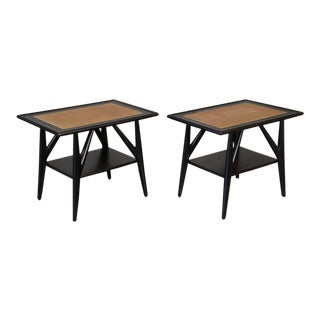 Pair of Ebonized Oak Side Tables by Jack Van Der Molen