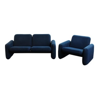 "1970s Modern, Ray Wilkes for Herman Miller, ""Chicklet"" Love Seat & Chair Sofa set"