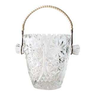 Crystal Ice Bucket With Wrapped Handle
