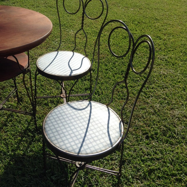 Vintage Ice Cream Parlor Table Set- 5 Pieces - Image 6 of 11