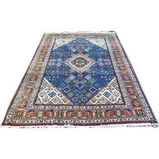 "Tribal Persian Joshegan Area Rug - 7'3"" x 11'2"""