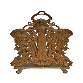 Art Nouveau Cast Iron Letter Holder