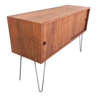 Vintage Teak Mid-Century Record Holder