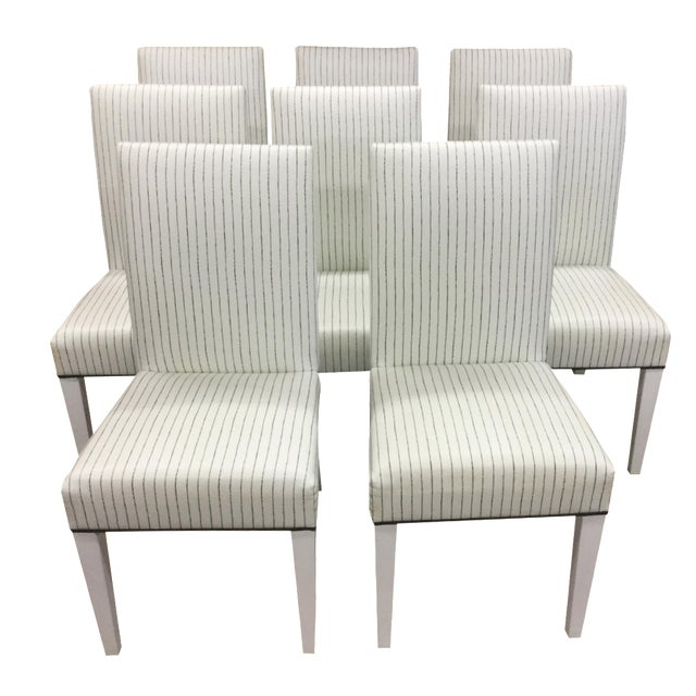Image of Custom Barclay Butera Vinyl Parsons Chairs - 8