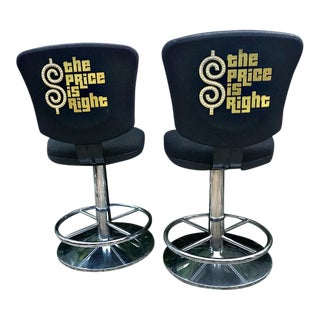 MCM the Price Is Right Swivel Bar Stools - a Pair