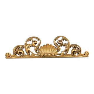 Italian Hand-Carved Giltwood Wall Decoration