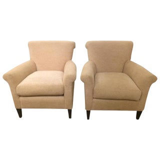 Club Chairs in Kravet Couture Chenille - A Pair