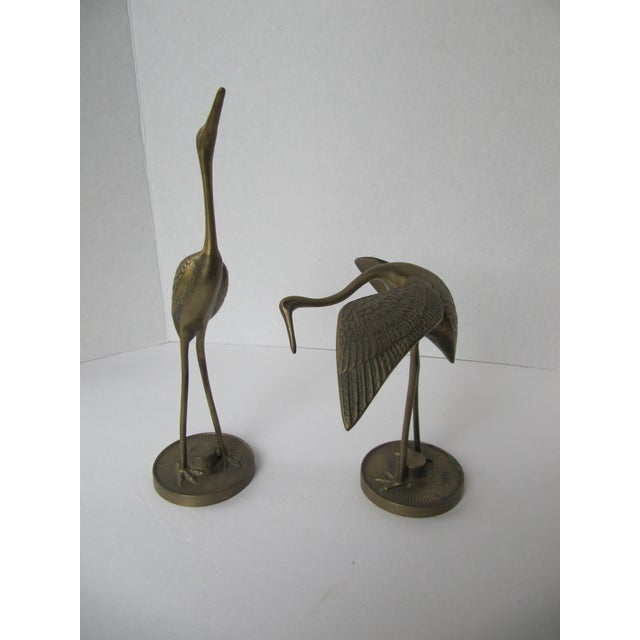 Solid Brass Egrets - Image 2 of 6