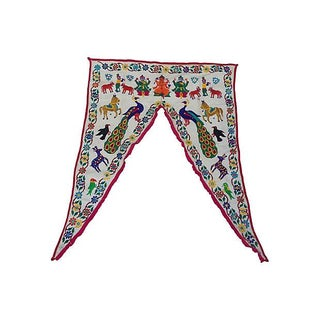 Embroidered Ganesha Window Valance