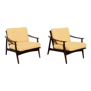 Vintage Mid-Century Lounge Chairs - A Pair
