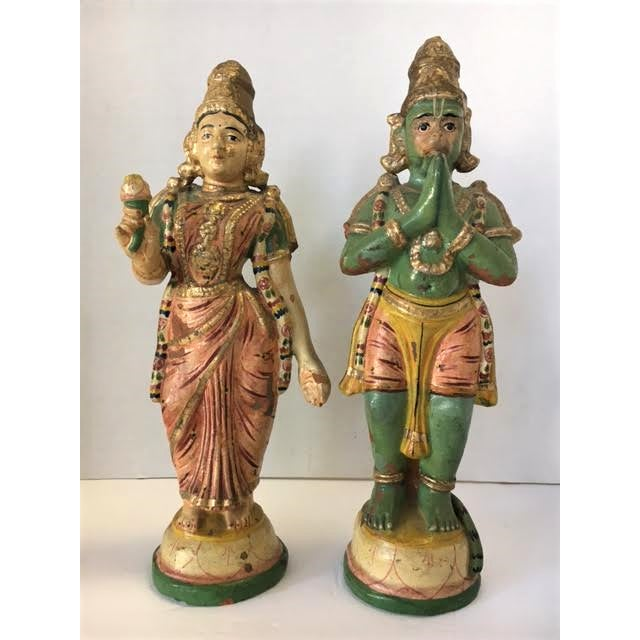 Terra Cotta Indian Figurines - A Pair - Image 2 of 7
