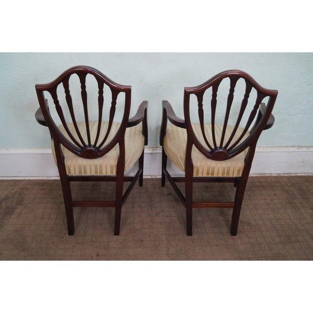 Mahogany Federal Style Inlaid Dining Chairs - 6 - Image 6 of 10