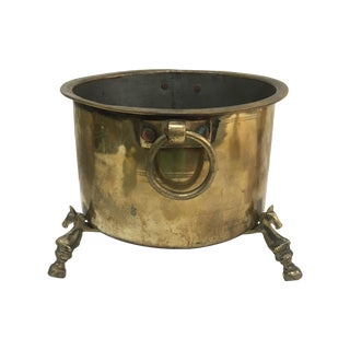 Antique French Brass Champagne Bucket