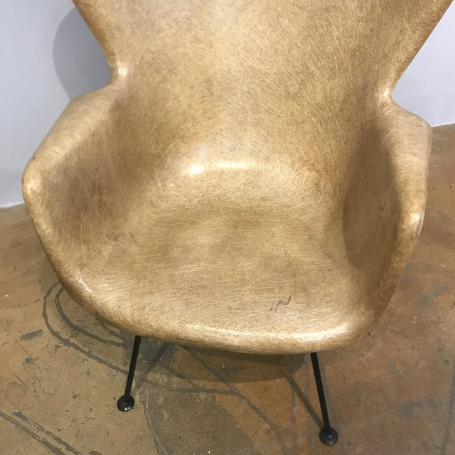 Selig Fiberglass Wingback Chair - Image 6 of 6