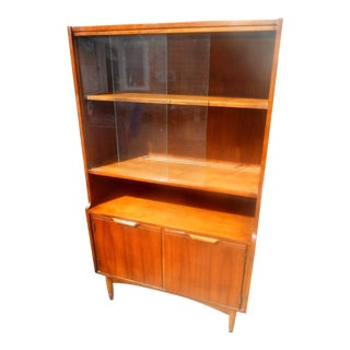Mid-Century Modern Walnut China Cabinet