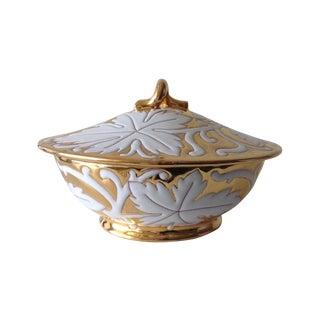 Italian Ceramic/Porcelain Gilt & Glazed Bowl