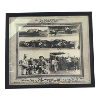 1948 Racehorse Winner Circle Photograph