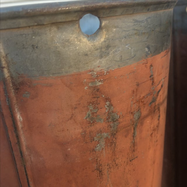 Antique Red Maple Syrup Sap Buckets - Set of 2 - Image 10 of 10