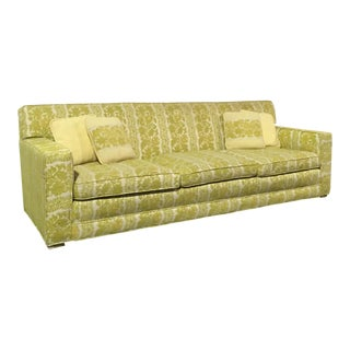 1960's Vintage Chartreuse Down Filled Sofa