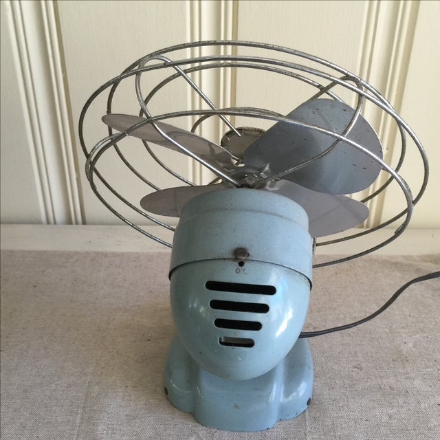Image of Vintage Mid-Century Oscillating Fan